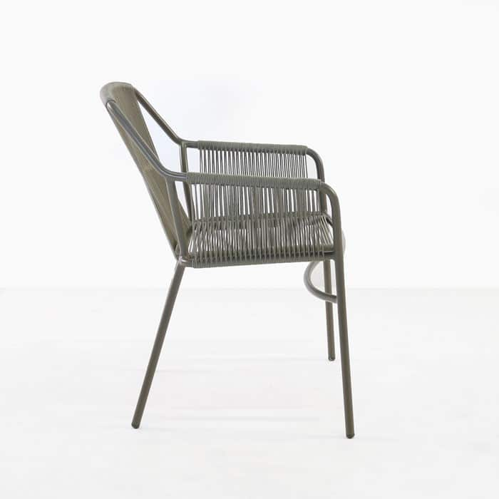 Phileep Outdoor Dining Chair side view