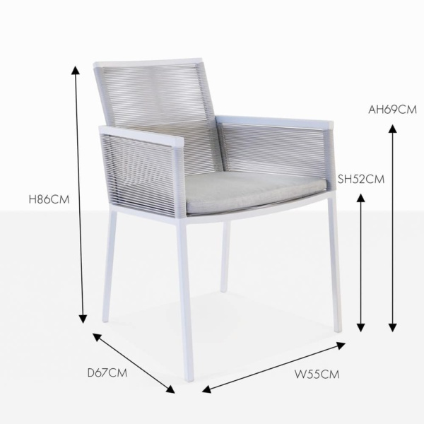 republic stone outdoor dining chair