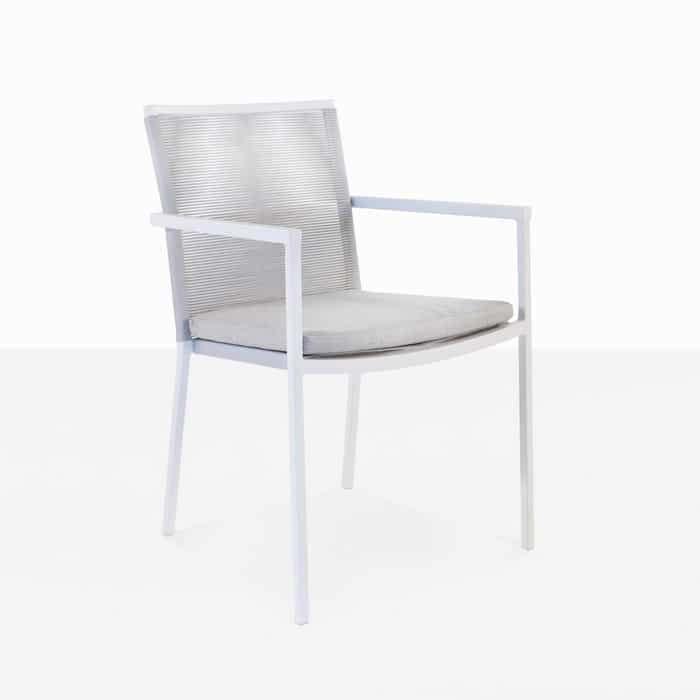 Republic outdoor woven dining chair white modern