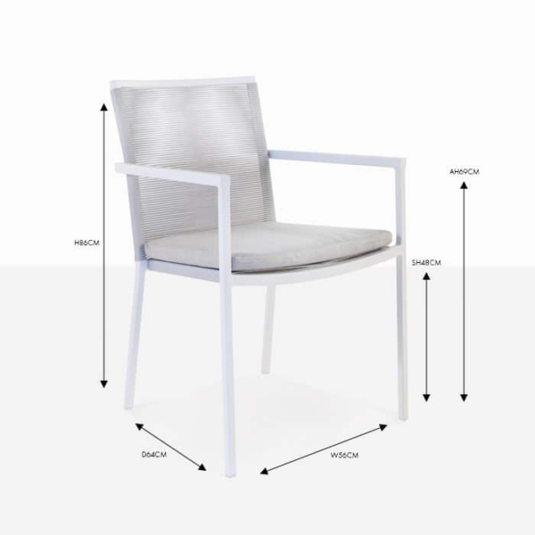 republic wicker dining side chair