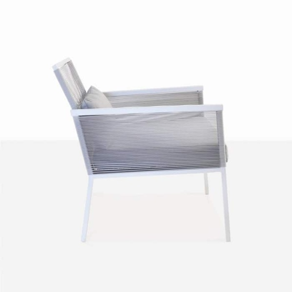 Republic outdoor woven relaxing chair white and grey aluminium outdoor chair