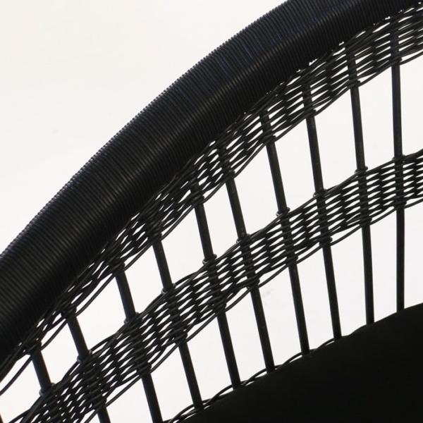 Sahara black wicker weave closeup image