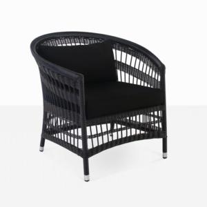 Sahara black wicker lounge relaxing chair