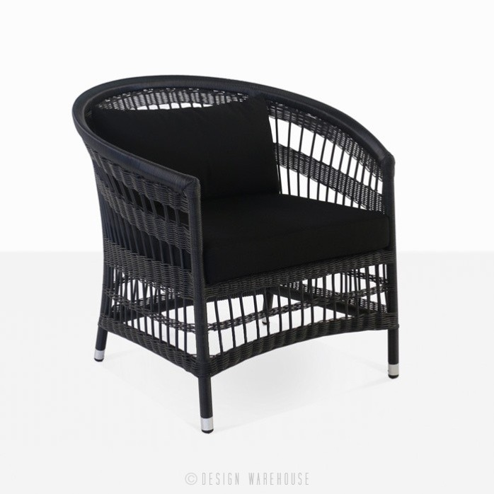 Sahara black wicker lounge relaxing chair