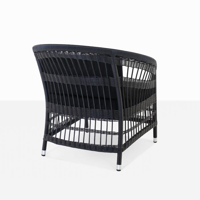 Sahara black outdoor wicker relaxing chair