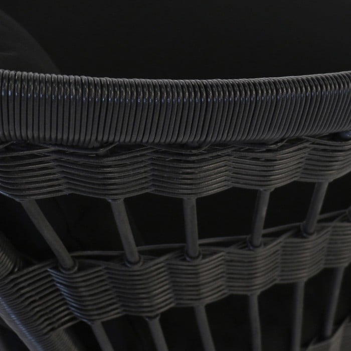 Sahara black synthetic wicker chair weave closeup