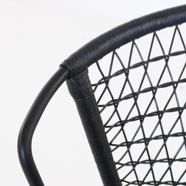 Sophia Outdoor steel and wicker chair black