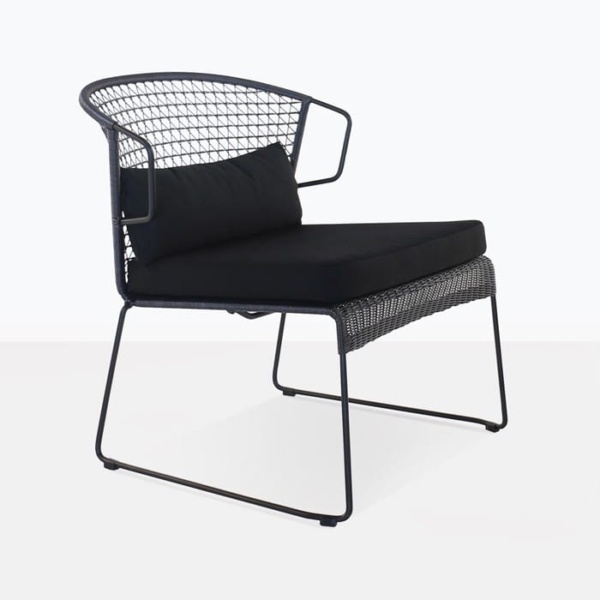 Sophia Outdoor modern black outdoor chair with cushions