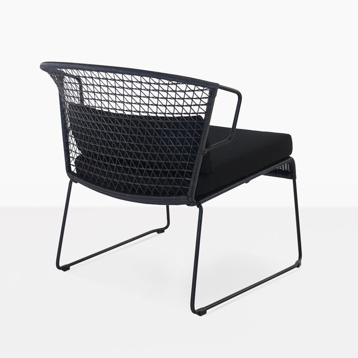 Sophia Outdoor black wicker lounge chair