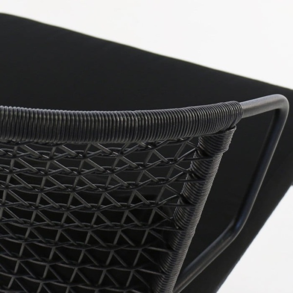 Sophia Outdoor synthetic black wicker closeup image