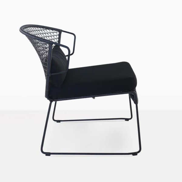 Sophia Outdoor black wicker relaxing chair side
