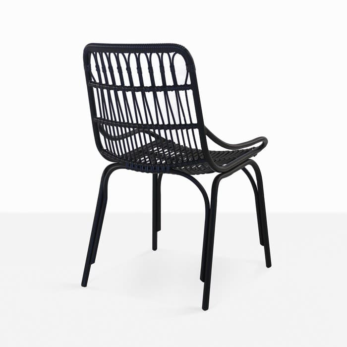 Sydney Black Wicker Dining Chair Outdoor Furniture