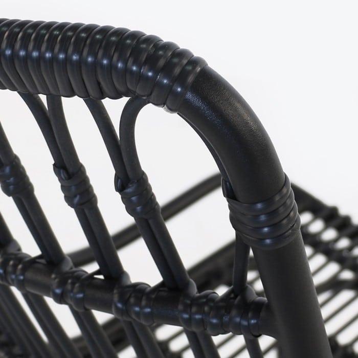 Sydney Black Wicker Dining Chair Outdoor Furniture