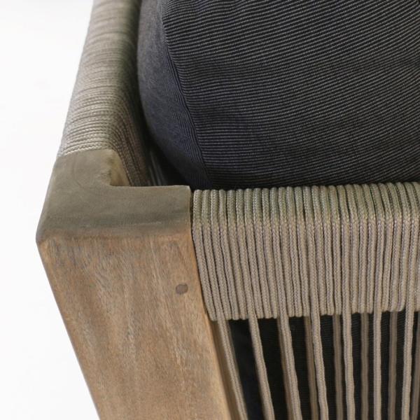 Ventura reclaimed teak club chair corner detail