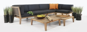Ventura reclaimed teak outdoor furniture collection set