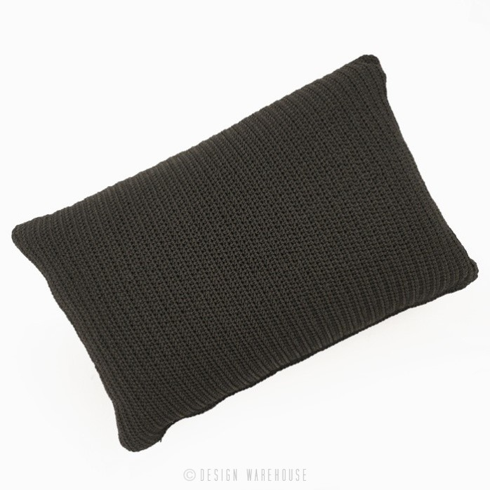 Gigi rectangle black throw pillow black full view