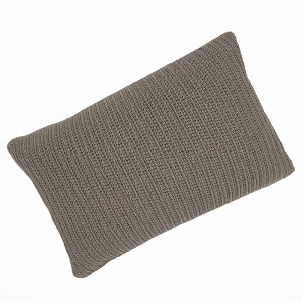 Gigi rectangle home decor throw pillow pebble brown full view