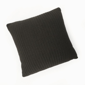 Gigi square decorative throw pillow black full view