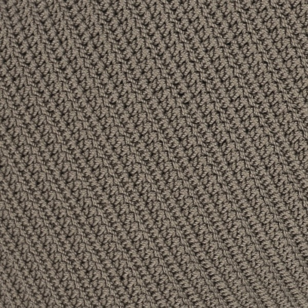 Gigi rectangle pebble brown crocheted pillow closeup image