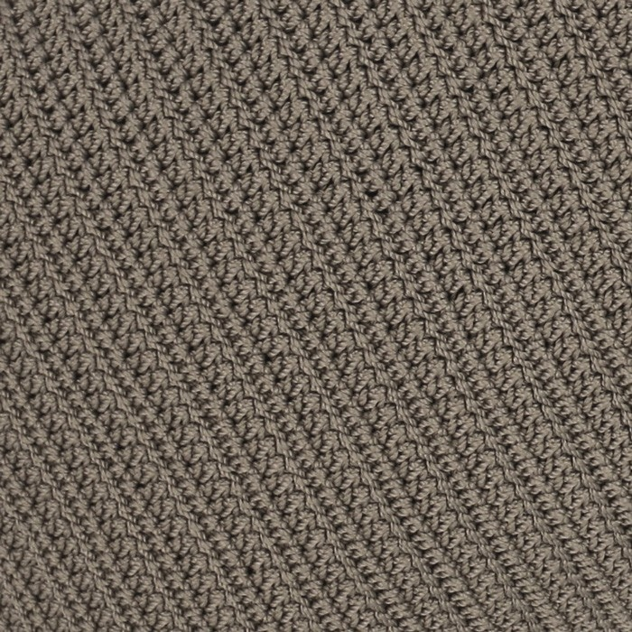 Gigi rectangle pebble brown crocheted pillow closeup image