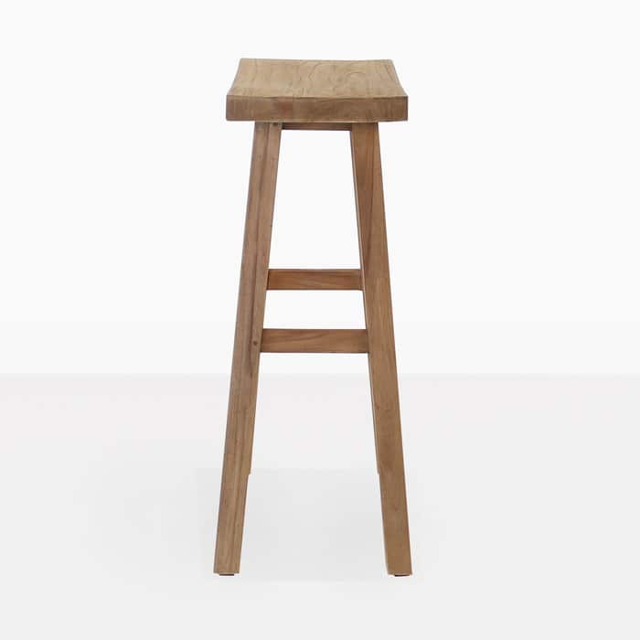 Maid Reclaimed Teak Bar Stool 3002 side view