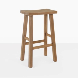 Maid Reclaimed Teak Bar Stool wood angle full view