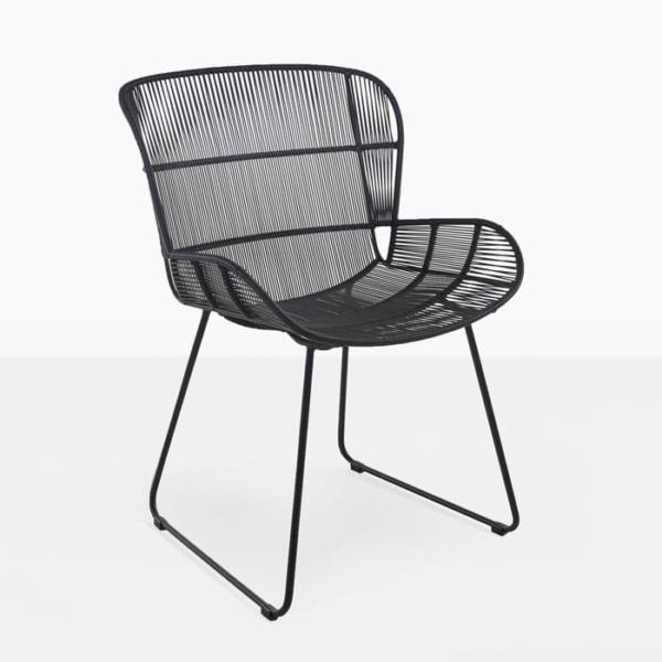 Nairobi Woven Dining Arm Chair black full view