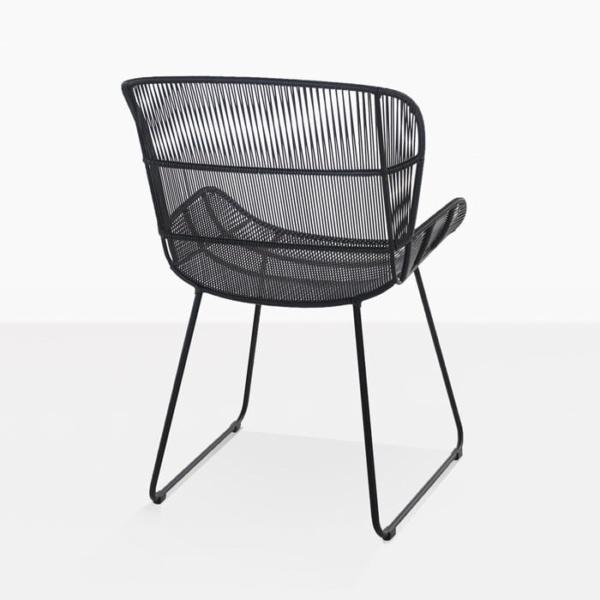 Nairobi Woven Dining Arm Chair black 3015 back view
