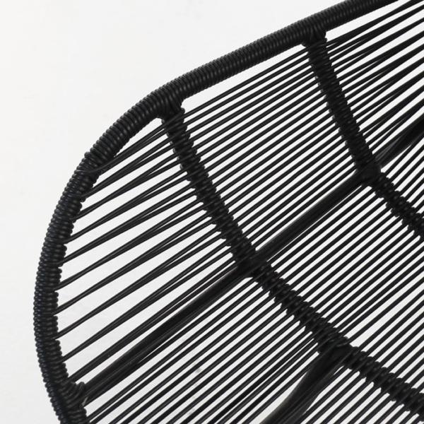 Nairobi Woven Dining Arm Chair 3017 black detail view