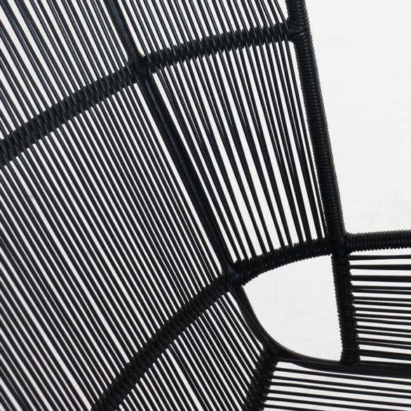 Nairobi woven relaxing chair black wicker closeup image