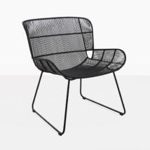 Nairobi woven relaxing chair black woven lounge chair angle view