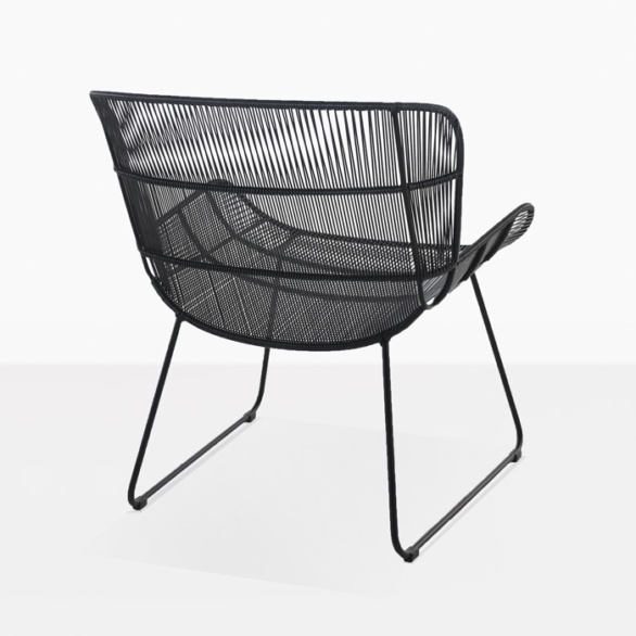 Nairobi woven relaxing chair modern outdoor lounge chair black back view