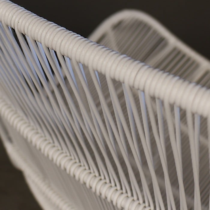 Nairobi Woven Dining Arm Chair White 3020 detail view