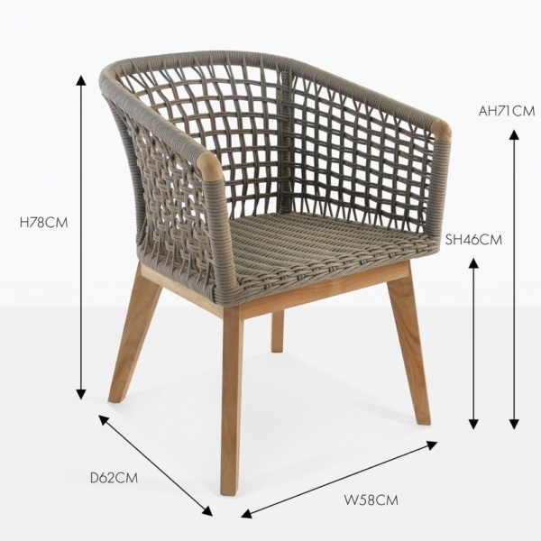ravoli rope outdoor dining chair