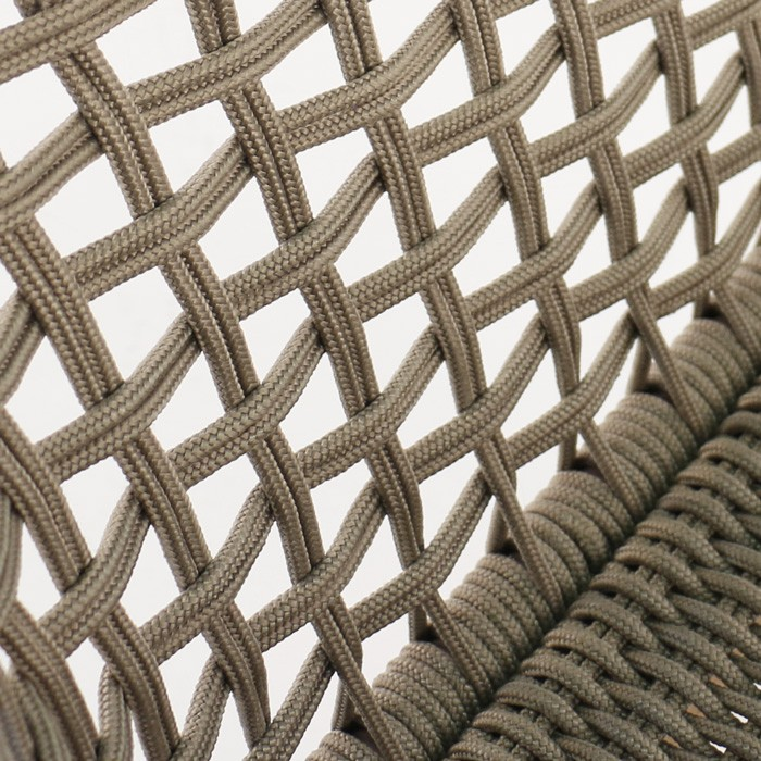 Ravoli rope dining chair taupe woven closeup image