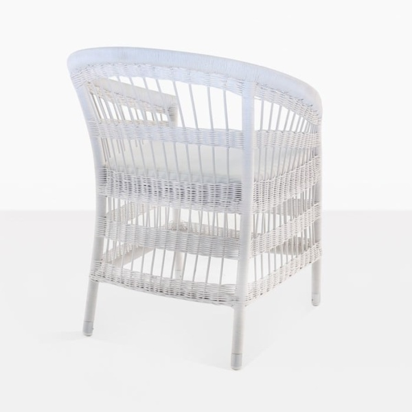 Sahara Wicker Dining Chair white 3011 back view