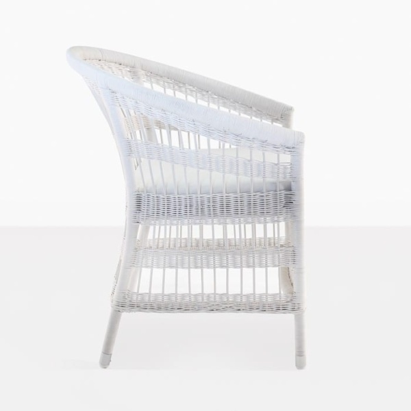 Sahara Wicker Dining Chair White 3014 side view
