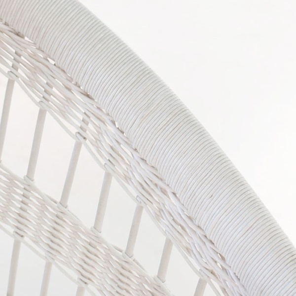 Sahara Wicker Dining Chair White 3010 closeup view