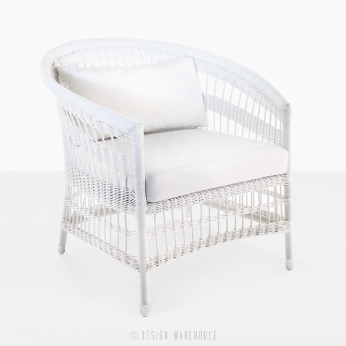 Sahara Wicker Relaxing Chair White Wicker Patio Chair