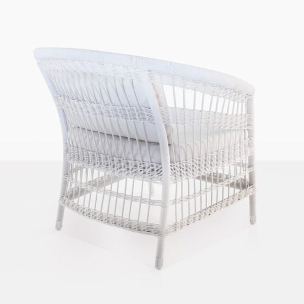 Sahara White Wicker Patio Chair back image