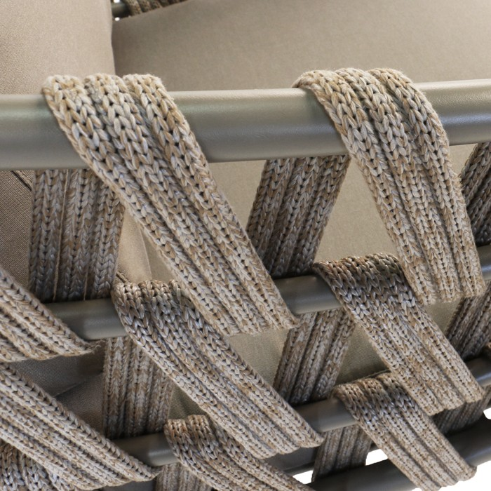 Wellington taupe synthetic rope chair detail photo