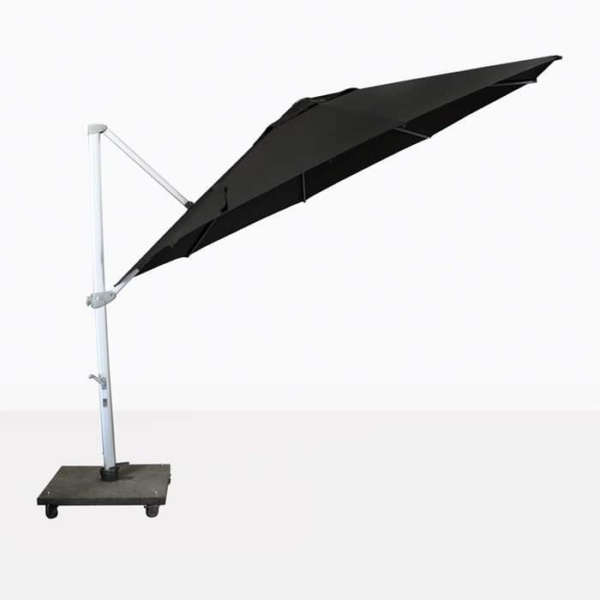 Antigua round cantilever umbrella in black