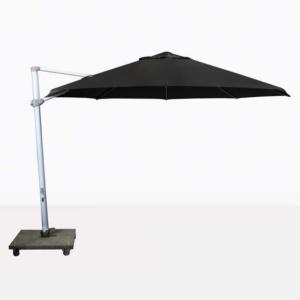 Antigua round cantilever umbrella with black canopy