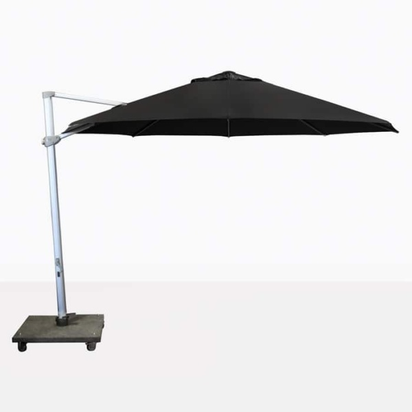 Antigua round cantilever umbrella with black canopy