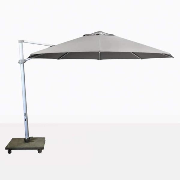 Antigua rotating cantilever grey umbrella