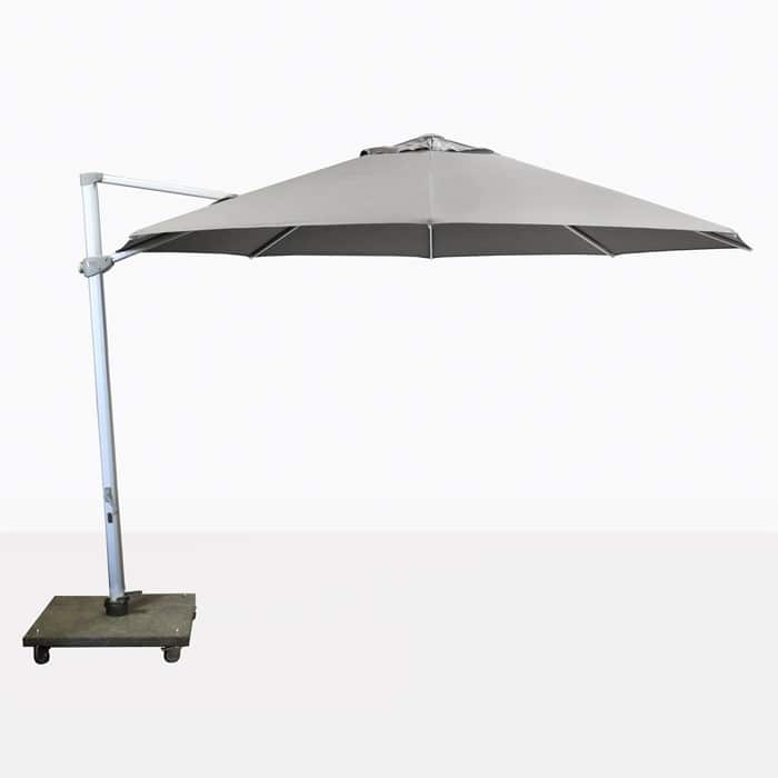 Antigua rotating cantilever grey umbrella