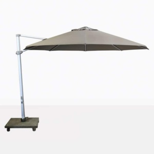 Antigua rotating cantilever taupe umbrella