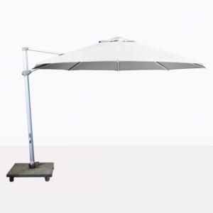 Antigua rotating cantilever white umbrella