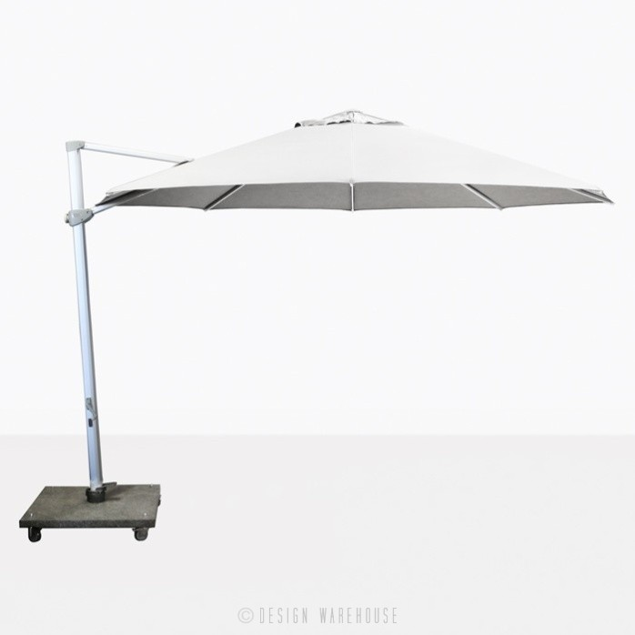 Antigua rotating cantilever white umbrella
