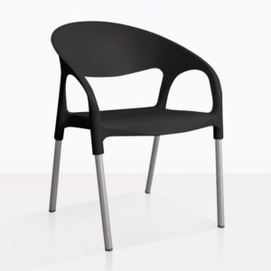 black libby chair angle